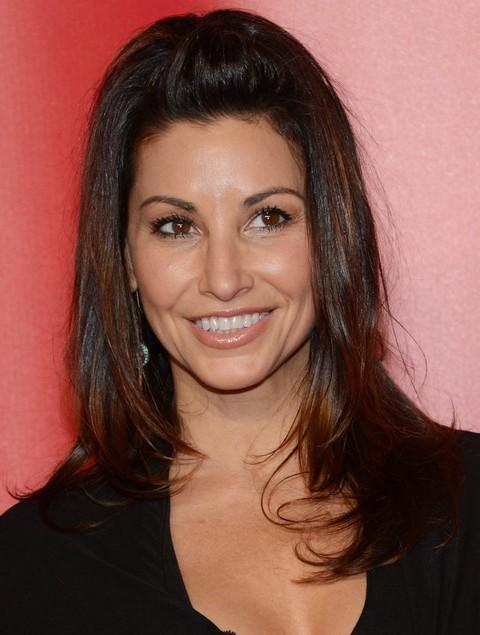 Gina Gershon Hairstyles: Cute Half-up Half-down
