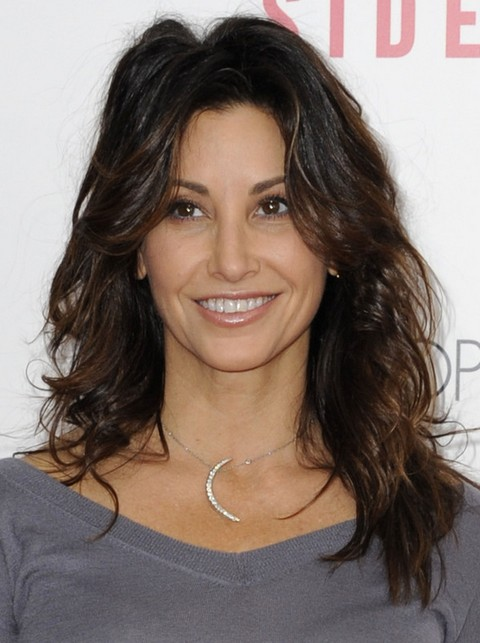 Gina Gershon Hairstyles: Fluffy Waves