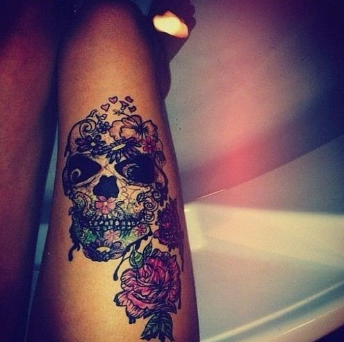 50 cool skull tattoos designs pretty designs. Black Bedroom Furniture Sets. Home Design Ideas