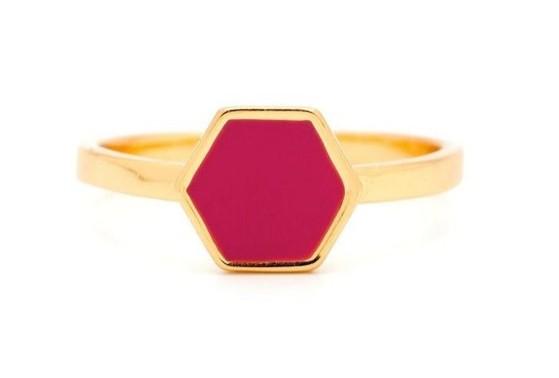 Gorjana Griffin Sunset Hexagon Ring, Gold