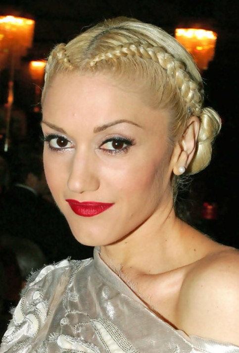 Gwen Stefani Long Hairstyle: Braided Updo