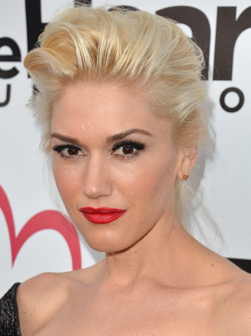 Gwen Stefani Long Hairstyle: Fluffy Updo