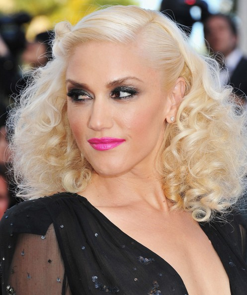 Gwen Stefani Long Hairstyle: Pinned up Curls