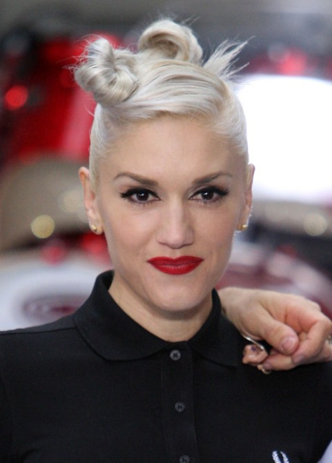 Gwen Stefani Long Hairstyle: Twisted Hair