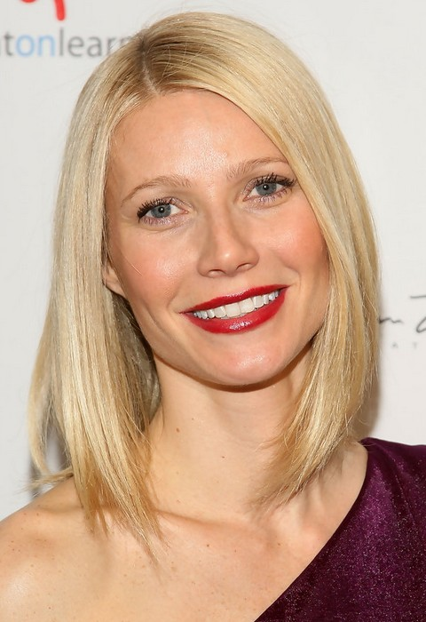 Gwyneth Paltrow Hairstyles: Medium Straight Haircut