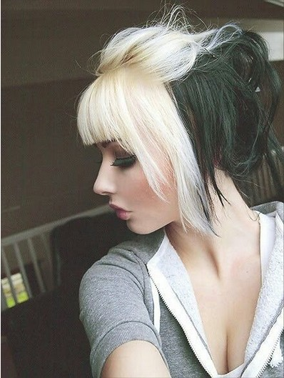 Stupendous Edgy Chic Emo Hairstyles For Girls Pretty Designs Hairstyles For Women Draintrainus
