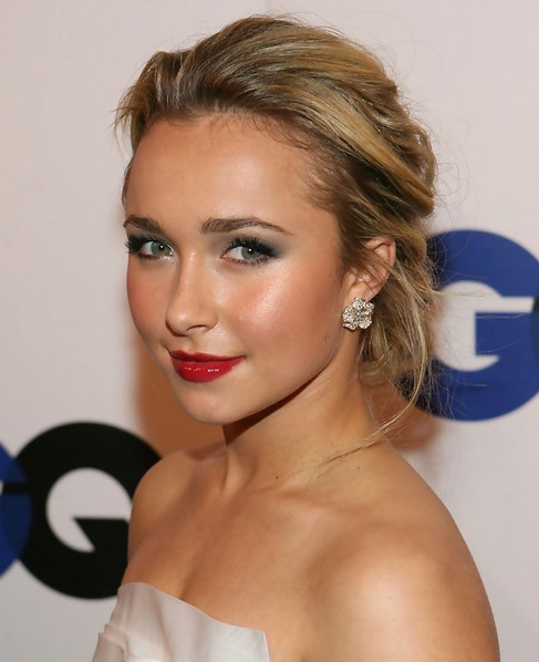 Updo Party Hairstyles : Hayden panettiere long hairstyle: loose updo for party pretty