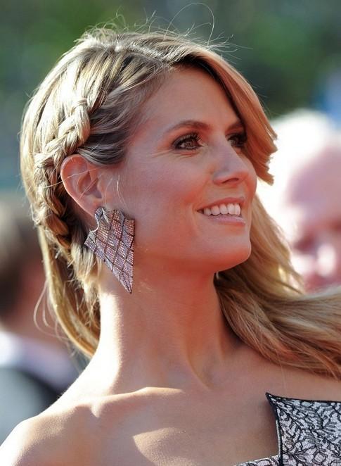Heidi Klum Long Hairstyle: Braided Haircut
