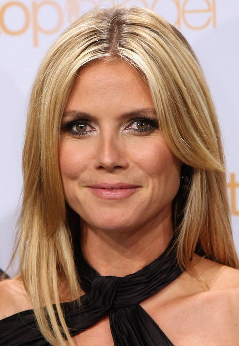 Heidi Klum Long Hairstyle Layered Hair Pretty Designs