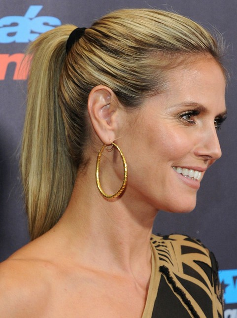 Heidi Klum Hairstyles with Bangs