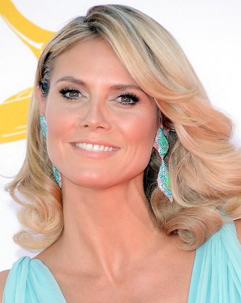 Heidi Klum Medium Hairstyle: Romantic Curls