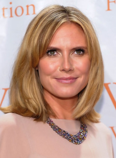 Heidi Klum Medium Length Hairstyle Straight Bob