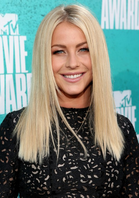 julianne hough hairstyles blunt straight haircut pretty