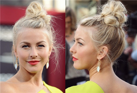 Julianne Hough Hairstyles: Interesting Hair Knot