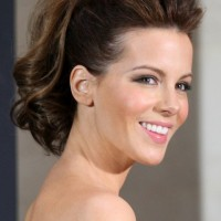 Kate Beckinsale Hairstyles: Cheerful Ponytail