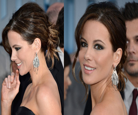 Kate Beckinsale Hairstyles: Loose Updo