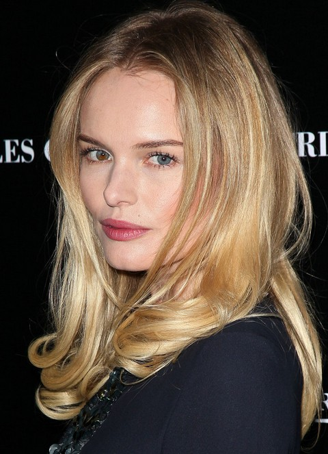 Kate Bosworth Long Hairstyle: Center Part