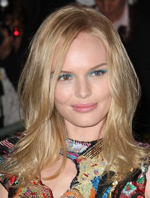 Kate Bosworth Long Hairstyle: Side Part