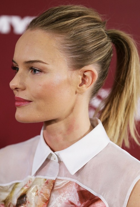 Kate Bosworth Long Hairstyles: 2014 Ponytail for Two-tone Hair