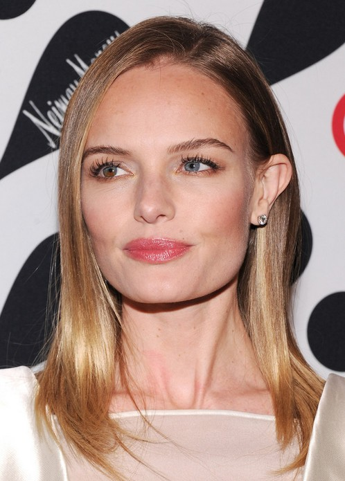 Kate Bosworth Medium Length Hairstyle: Straight Hair with Side Part