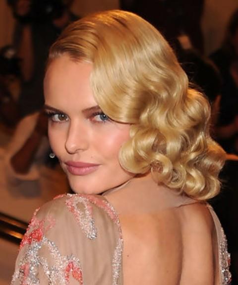 Kate Bosworth Medium Length Hairstyle: Wavy Haircut