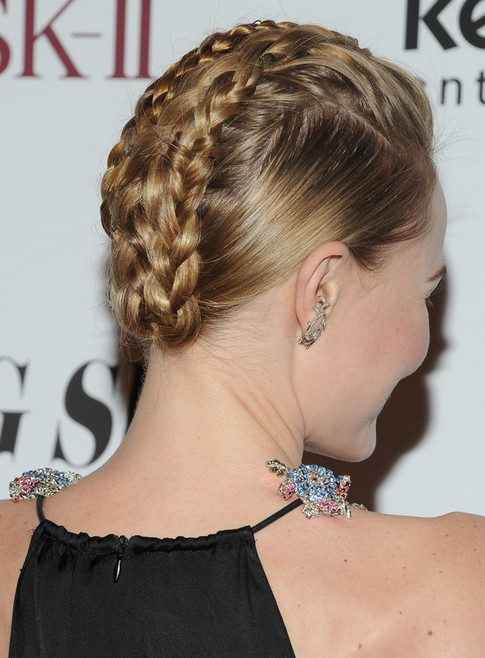 Kate Bosworth Updo Hairstyle: Braided Updo
