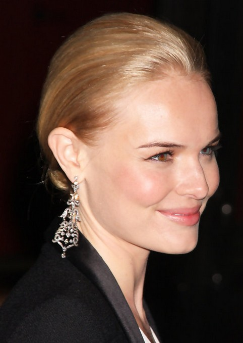 Kate Bosworth Updo Hairstyle: Chignon for Sleek Hair