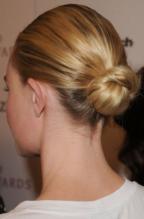 Kate Bosworth Updo Hairstyle: Classic Bun