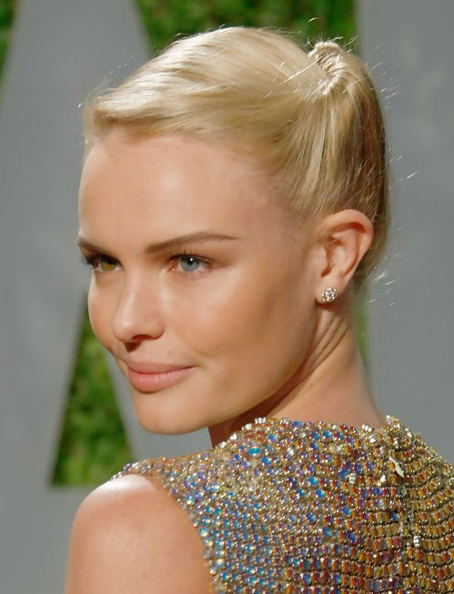Kate Bosworth Updo Hairstyle: Twisted Bun