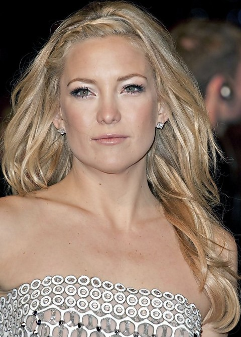Kate Hudson Hairstyles: Sassy Long Curls with Braids