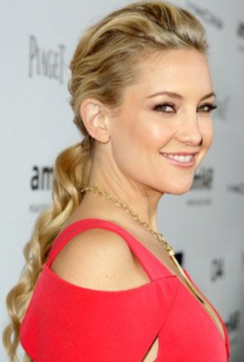 Kate Hudson Hairstyles: Super-chic Ponytail