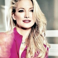 Kate Hudson Hairstyles: 2014 Voguish Side-swept Curls