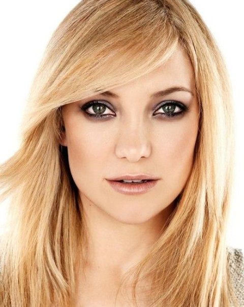 Kate Hudson Hairstyles: straight Haircut with Bangs