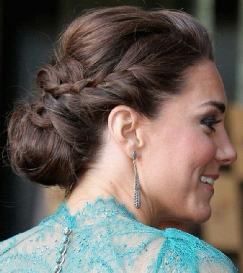 Kate Middleton Hairstyles: Braided Bun