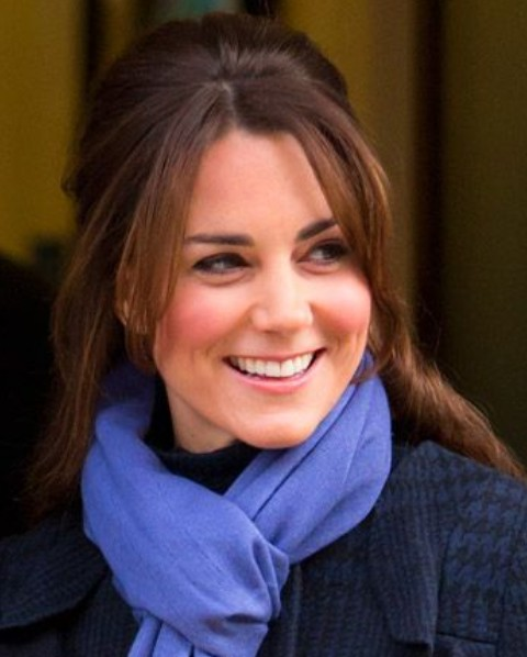 Kate Middleton Hairstyles: Cute Half-up Half-down Hairstyle