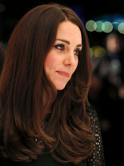 Kate Middleton Hairstyles: 2014 Long Wavy Hairstyle