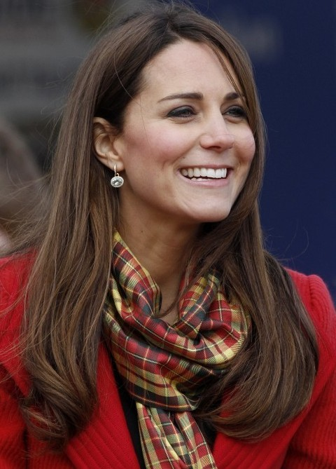 Kate Middleton Hairstyles: Long Straight Haircut