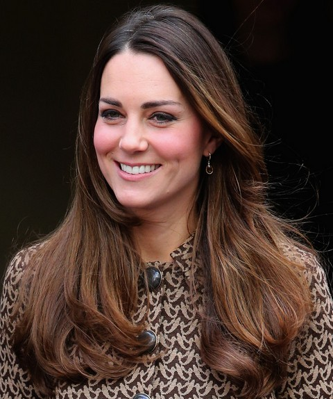 Kate Middleton Hairstyles: 2014 Ombre Long Wavy Haircut