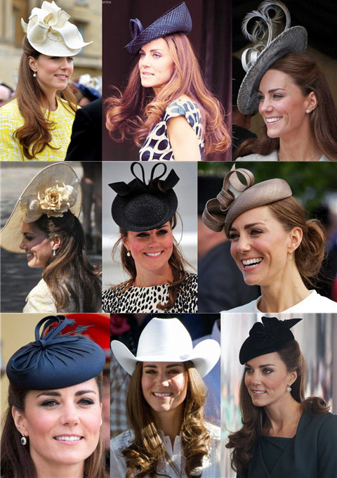 Kate Middleton Hairstyles with Hats