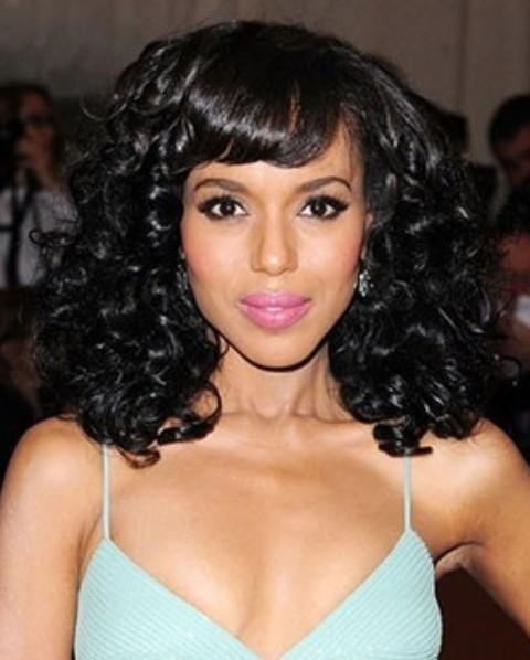 Kerry Washington Hairstyles: Voluminous Curls