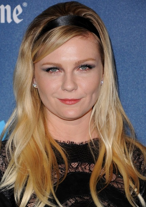 Kirsten Dunst Hairstyles: 2014 Stragight Haircut with Headband