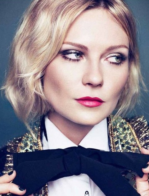 Kirsten Dunst Hairstyles: Chic Medium Curls - Pretty Designs Kirsten Dunst Medium Hair