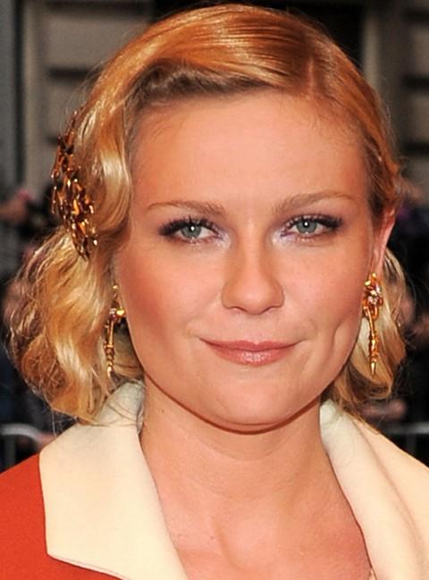 Kirsten Dunst Hairstyles: Elegant Retro Updo