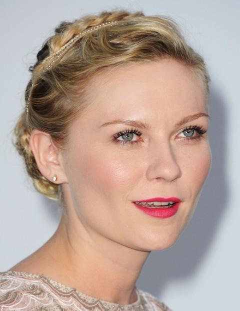 Kirsten Dunst Hairstyles: Graceful Braided Bun