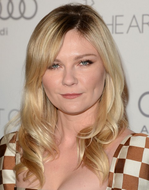 Kirsten Dunst Hairstyles: Side-parted Medium Curls Kirsten Dunst Medium Hair