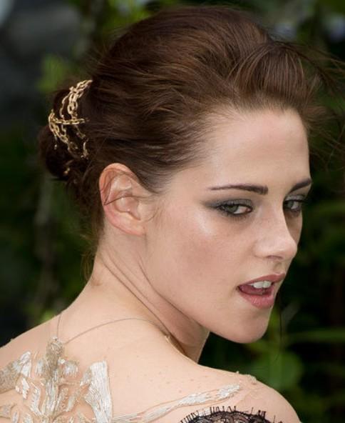 Kristen Stewart Long Hairstyle: Classic Updo
