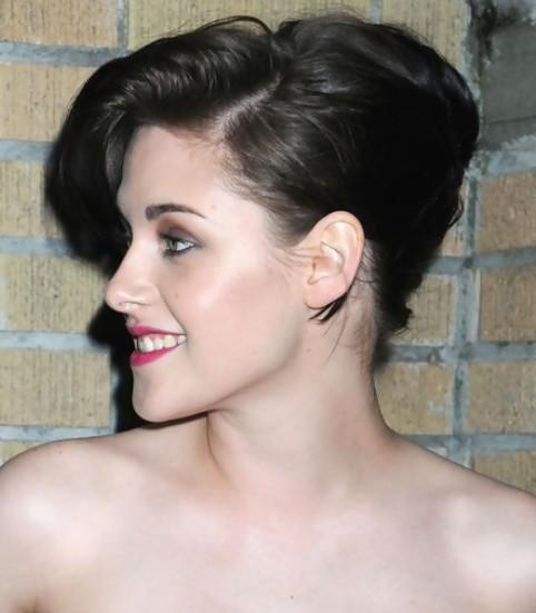 Kristen Stewart Long Hairstyle: French Twist