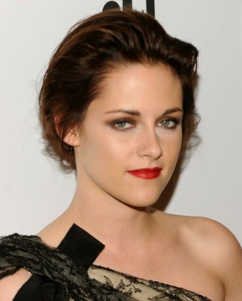 Kristen Stewart Long Hairstyle: Loose Bun