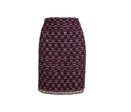 LANVIN Bouclé Tweed Pencil Skirt, Multi-purple