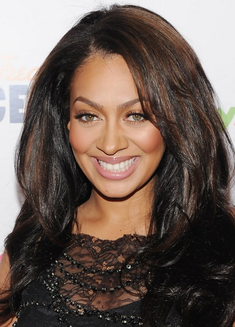 La La Anthony Long Hairstyle: Curls for Thick Hair